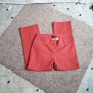 J.Crew City Fit Capri Coral Pants.